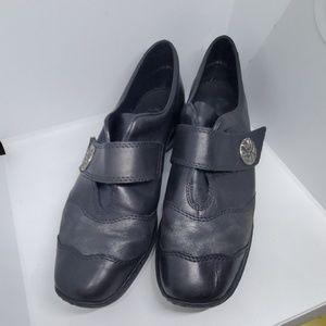 Rieker Antistress Loafers Black Leather shoe 41